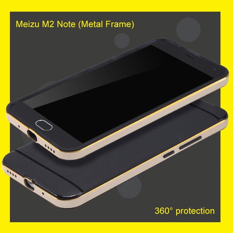 Gut Ausgebildete Top Qualität Fall Für Meizu M2 Hinweis Metall Rahmen Plus Silikon Zurück Abdeckung Handytaschen & -hüllen Anti-rutschig Und Schutzhülle Eleganter Auftritt
