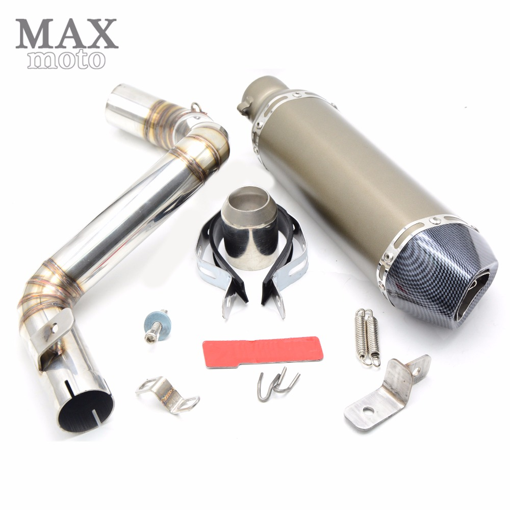 motorcycle middle of exhaust pipe escapamento de moto Akrapovic muffler exhaust pipe for KTM DUKE 200