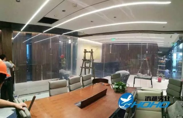 1mx1m Transparent to White Smart tints PDLC film With Pre-wires
