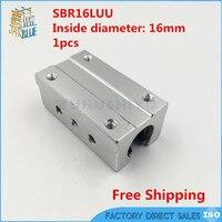 Darmowa wysyłka SBR16L SBR16LUU 16mm jednostki liniowe łożyska kulkowe slajdów 16mm liniowe łożyska bloku dla SBR16 normalny przewodnik
