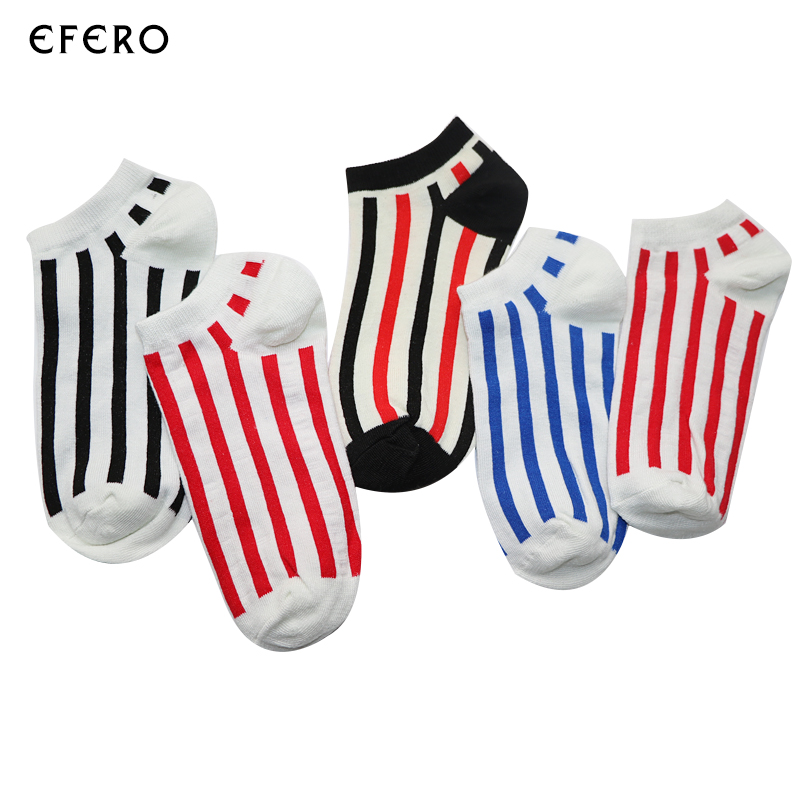6Pair Striped Mens Socks Men Ankle Socks Meias Masculinas Striped Male Ankle Boat Socks Calcetines Hombre Dress Socks Men Meias