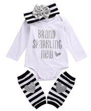 Adorable niña lentejuelas Navidad romper + Stripe leg warmer + Headband  grils del bebé recién nacido 93ea66332cf4