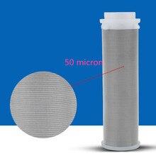 Accesorios de filtro de agua de 50 micras de acero inoxidable 316L prefiltro
