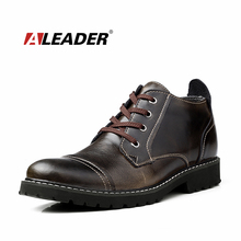 2016 British Classic Dress Boots Men Leather Oxfords Shoes Winter Casual Fur Ankle Boots for Man Waterproof Warm Shoes Botas
