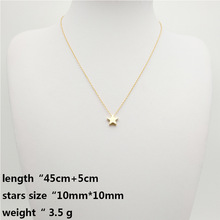 2018 New Fashion Short Link Chain Necklace & Pendant Gold / Silver Color Star Chokers Necklace for Women Bohemian Jewelry Gift