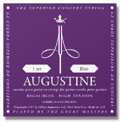 Augustine Regal Blue High Tension Classical Guitar Strings savarez 500arh classical corum standard tension set 024 042 classical guitar string