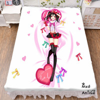 Japanese Anime Love Live Bed sheet Throw Blanket Bedding Coverlet Cosplay Gifts Flat Sheet cd038