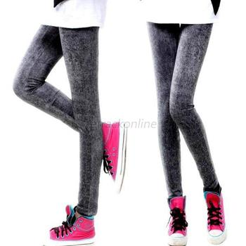 Ladies Sexy Skinny Leggings Jeggings Denim Jeans Stretch Pants Trousers Leggings