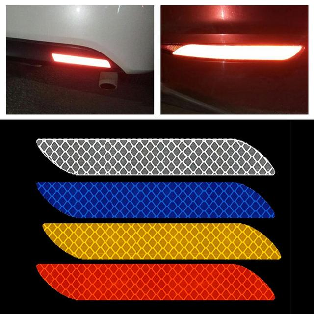 Universal Car Reflective Sticker Warning Safety Paster Water Resistant Car Rear Bar Decorative Sticker for Road Safety Needs