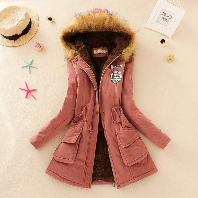 HTB1i2YBXdfvK1RjSszhq6AcGFXaJ 2019 Winter New Women's Hooded Fur Collar Waist And Velvet Thick Warm Long Cotton Coat Jacket Coat