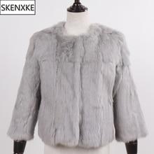 New Arrival Short Style Lady 100% Natural Rabbit Fur Coats Winter Warm Rabbit Fur Jackets Women Slim Real Rabbit Fur Overcoats