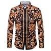 Luxury Brand Men S Dress Shirts Floral Print Slim Fit Long Sleece Casual Button Down Shirt