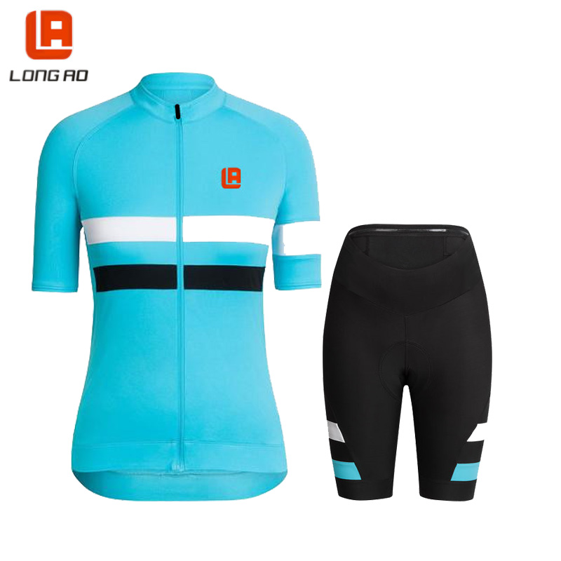 Women cycling jersey  Summer Quickdry Breathable Shoyt sieeve Classic blue jersey Bike clothing  Lycra Gel breathable padWomen cycling jersey  Summer Quickdry Breathable Shoyt sieeve Classic blue jersey Bike clothing  Lycra Gel breathable pad