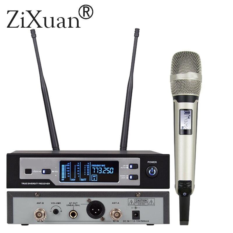 SKM-9100 microphone numérique professionnel sans fil véritable diversité microphone pour les performances à grande échelle skm microphone
