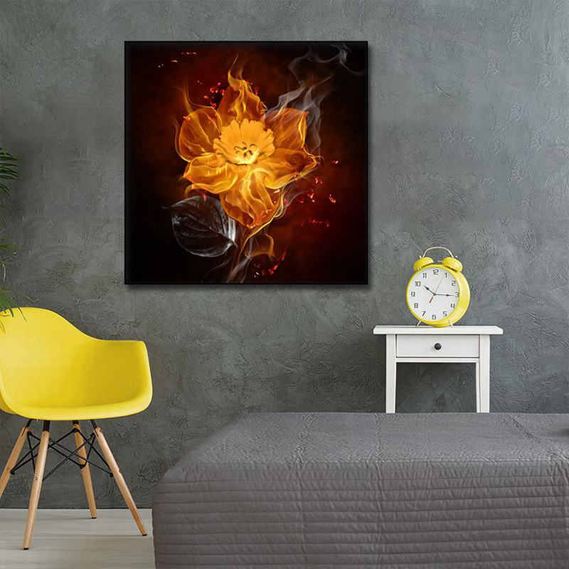 abstract Oil pating decorative painted Smoking fireworks wall art canvas poster Picture modern spark canvas art print painting in Painting Calligraphy from Home Garden