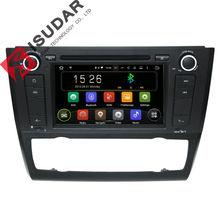 7 Cal Android Samochodowy Odtwarzacz DVD Dla BMW E81/E82/E88 1 Serii 2004-2011 Z Canbus GPS Wifi Bluetooth Radio FM Quad Core 1.6 GHZ