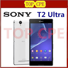 "Original Sony Xperia T2 Ultra XM50h Dual Sim Mobile Phone 6"" Quad Core 13.0MP GPS NFC 3G Cell Phones Refurbished"