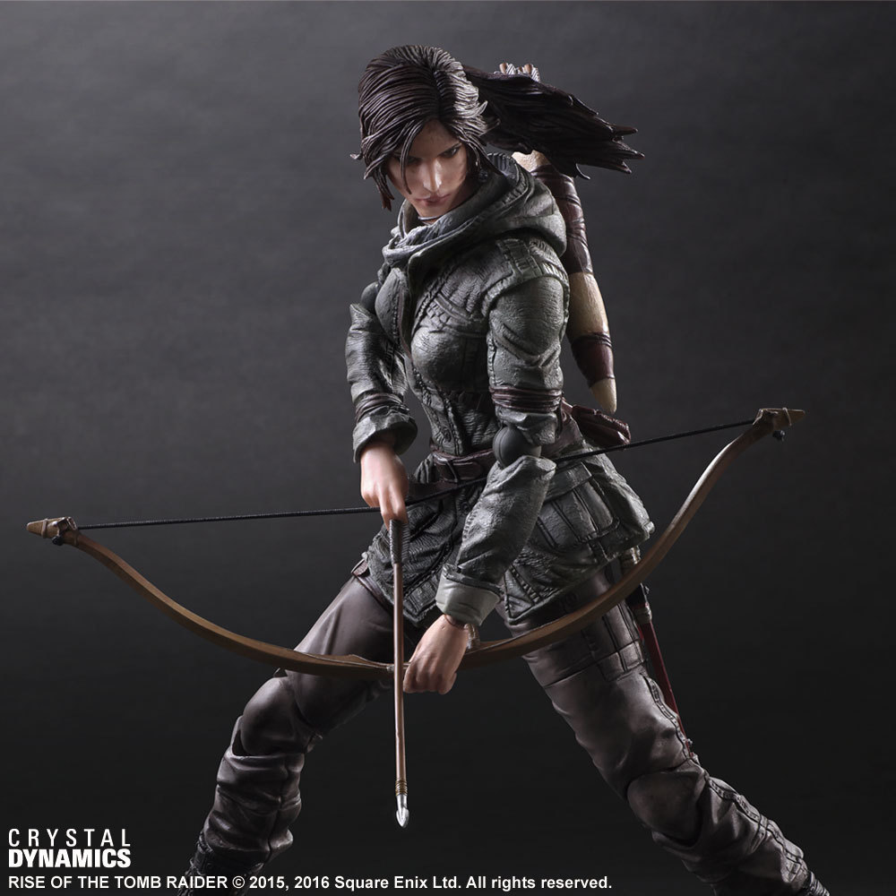 PLAY ARTS 26cm Tomb Raider Lara Croft Action Figure Model Toys the game tomb raider pvc action figure toys lara boy toy marvel anime figure laura collection doll 26cm