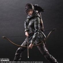 PLAY ARTS 26cm Tomb Raider Lara Croft Action Figure Model Toys
