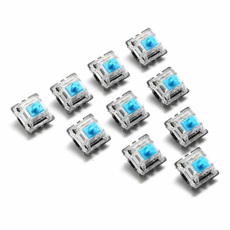 10 قطعة لوحة المفاتيح كيكابس 3 دبوس USB السلكية الميكانيكية التبديل الأزرق ل Gateron ل الكرز MX التبديل لوحة المفاتيح مجموعة اختبار العينات