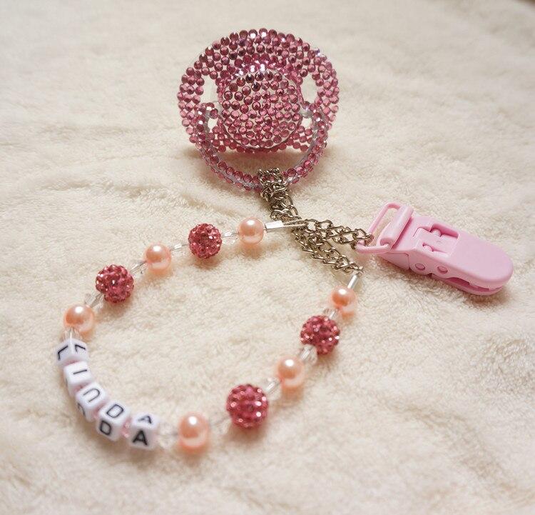 Chaud! rose princesse fait à la main en cristal strass tétine - Nourrir - Photo 5