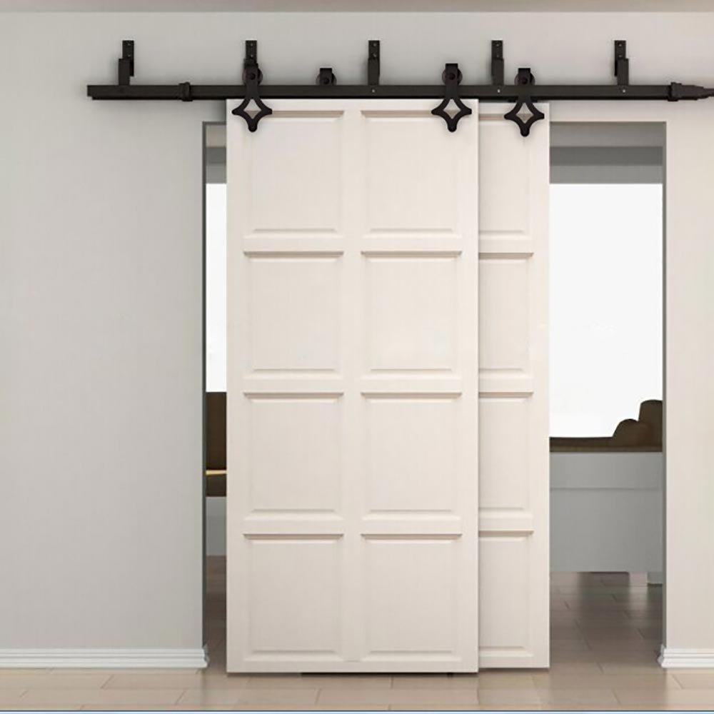 5 To 8ft Soft Close Sliding Bypass Barn Wood Door Hardware Country