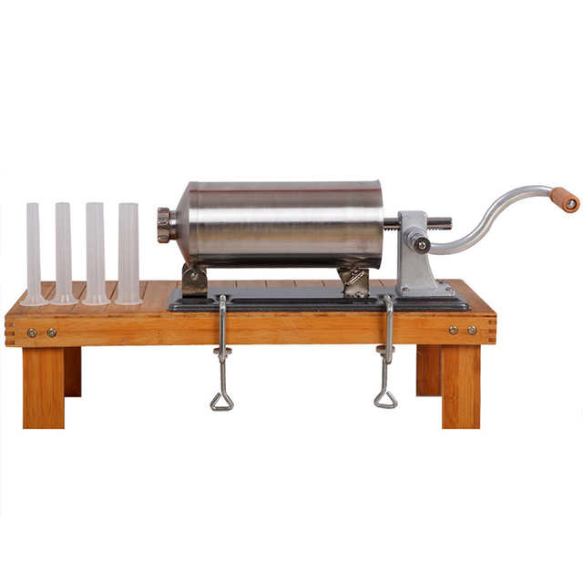 4KG / 8LBS home sausage stuffer salami filling manual horizontal sausage making machine kitchen meat process tool sausage maker