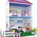 Cogo serie niña 3259 princesa Villa 360 unids Building Block Sets para las niñas Bricks educación de bricolaje juguetes para las muchachas