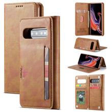 Magnetic Buckle Wallet Case Leather Phone For Samsung Galaxy S10 Plus / S10E Back Cover Book Flip