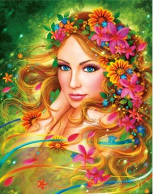 Flowers Fairy The Paper Puzzle 1000 Pieces Ersion  Jigsaw Puzzle White Card Adult Children's Educational Toys