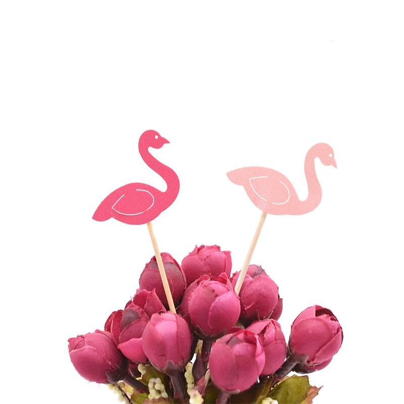 20Pcs Flamingo Cake Cupcake Topper Picks Cake Flags Kids Baby Shower Birthday Wedding Cake Decoration Flamingo Party Supplies 3