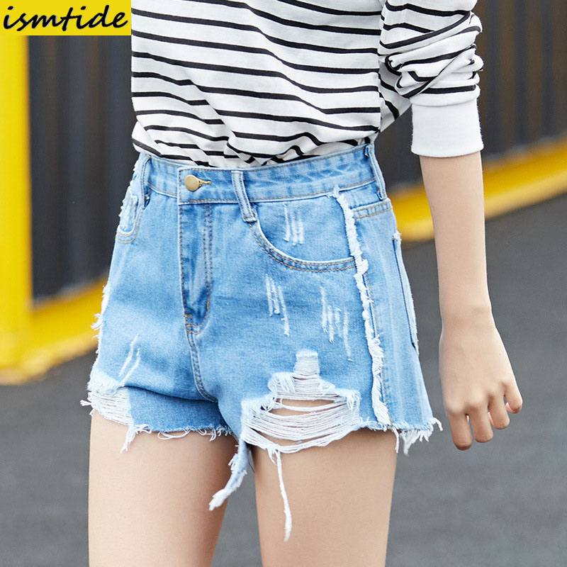 50's Vintage Ripped Hole Fringe Blue Denim Shorts Women Casual Pocket Tassel Jeans Shorts 2017 Summer Girl Mini Hot Shorts встраиваемый спот точечный светильник l arte luce avallon l10451 49