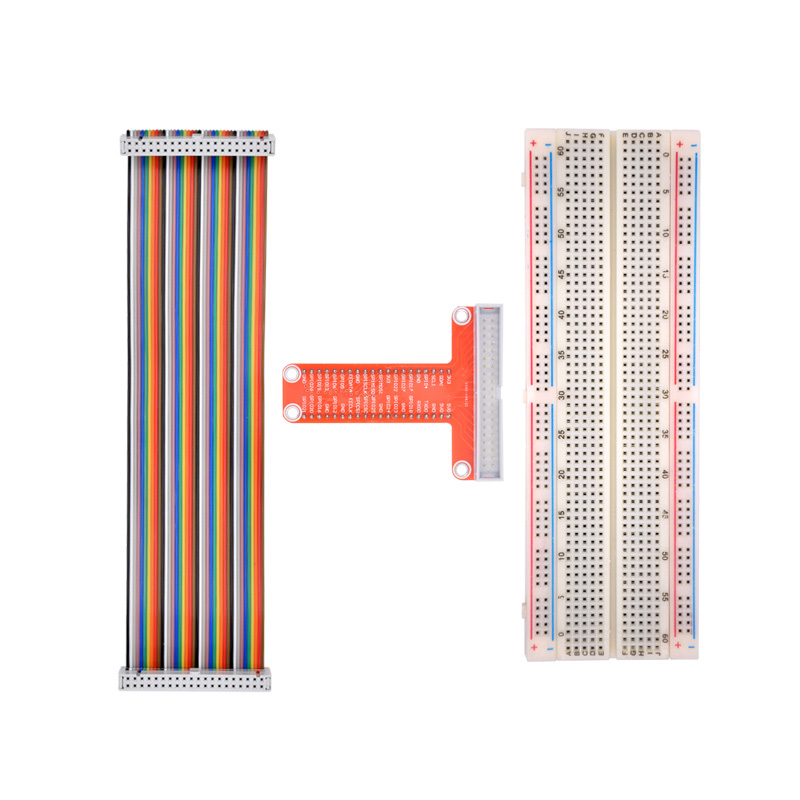 Free shipping Raspberry Pi 3 model B plus T cobbler expansion DIY kit (GPIO cable+ 830 points breadboard + GPIO plate)