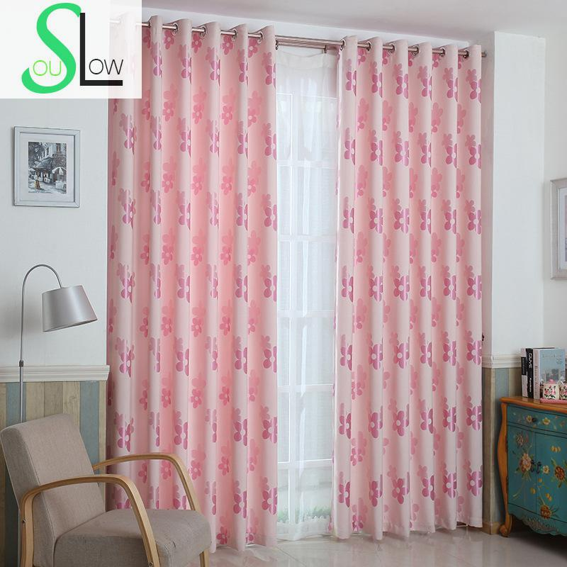 Slow Soul Pink Brown Green Blue Modern Nepalense Pastoral Curtain ...