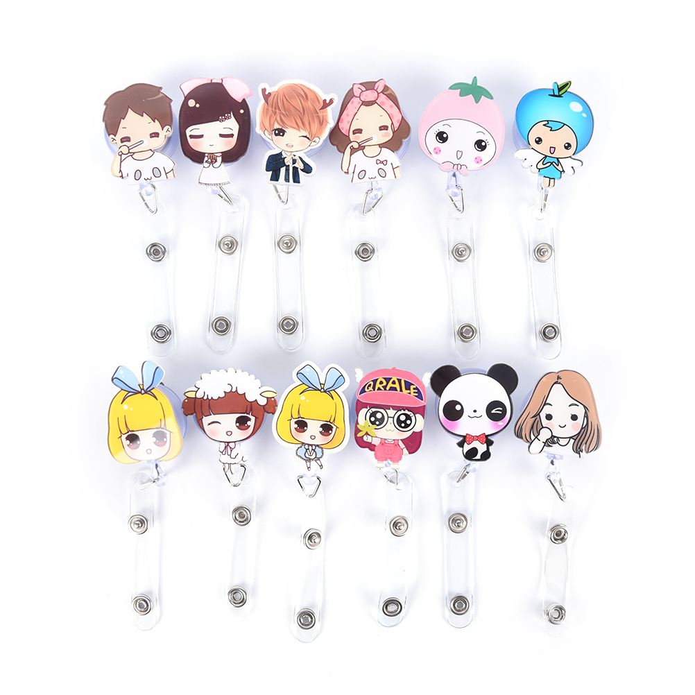 Orderly 1pcs Cute Retractable Badge Reel Student Nurse Exihibiton Id Name Card Badge Holder Office Supplies Labels, Indexes & Stamps