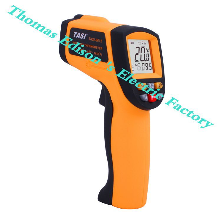 TASI-8612 Infrared Thermometer Range -50 ~ 900 Degree C Temperature Unit Selection Industrial Thermometer  meter tes 1326s industrial infrared thermometer 35 500c