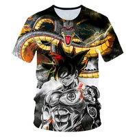 Новинка 2019 Мужская 3D футболка Dragon Ball Z Ultra Instinct Goku Super Saiyan God Blue Vegeta с рисунком летняя футболка Размер 6XL
