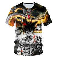 Nuevo 2019 camiseta 3D para hombre Dragon Ball Z Ultra Instinct Goku Super Saiyan Dios azul Vegeta impreso de dibujos animados de verano camiseta tamaño 6XL