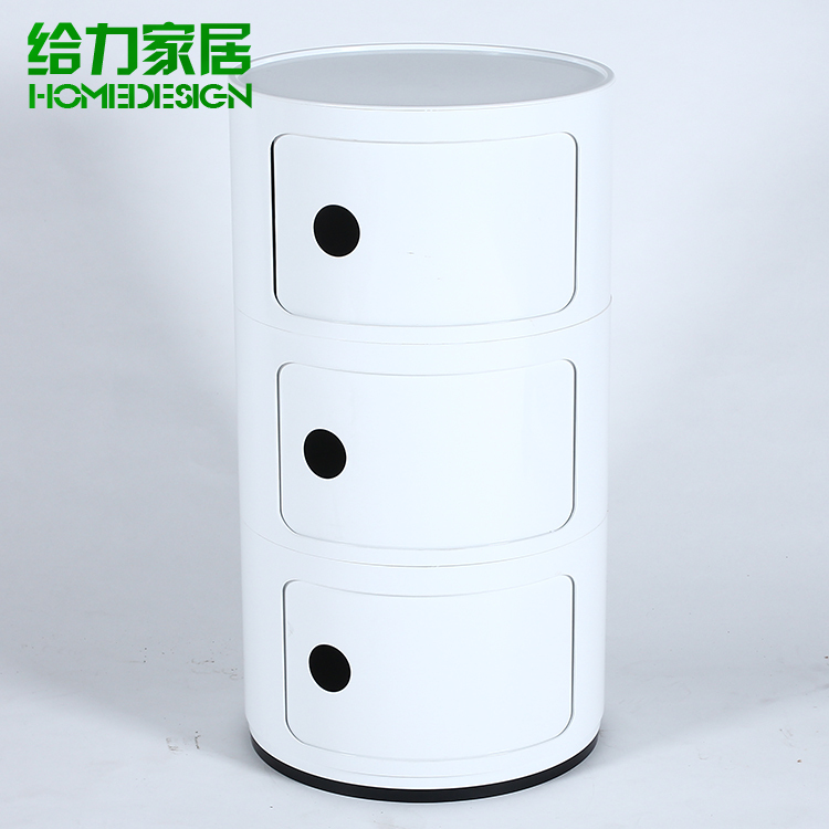 Small Bedside Cabinet Bathroom Cabinet Minimalist Modern European Fashion  Creative Storage Cabinets Lockers Cabinet IKEA Round In Laboratory  Furniture From ...