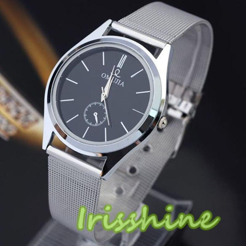 Irisshine #1134 Unisex Watch Fashion Luxury Men Women Stainless Steel Band Quartz Wrist Watches
