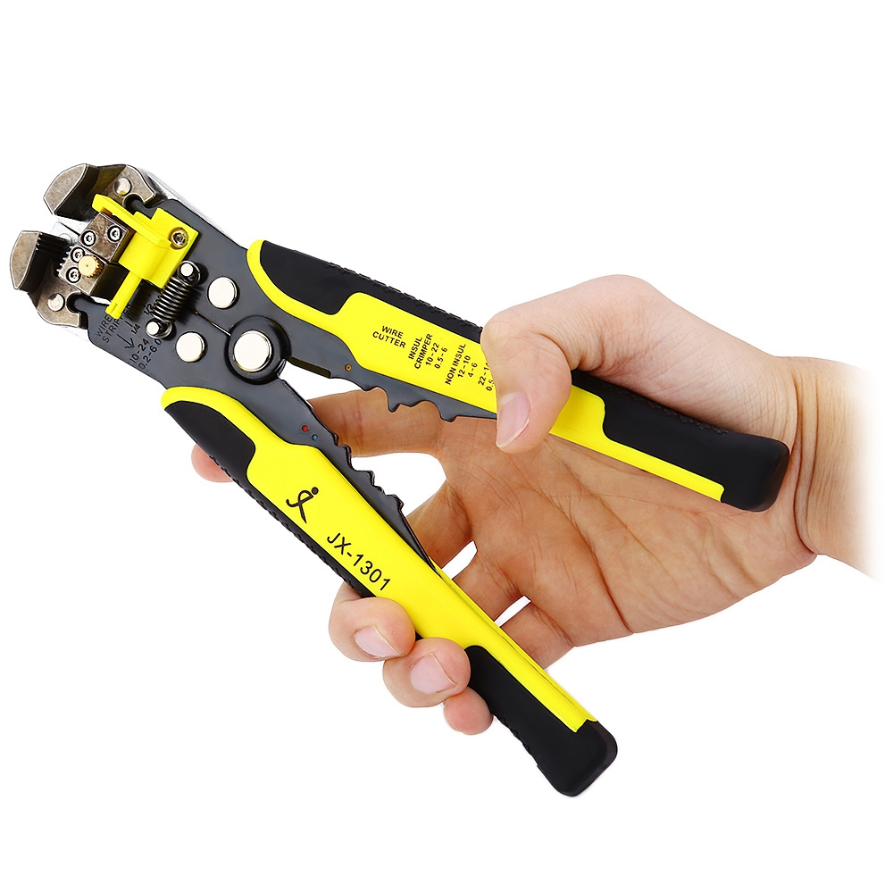 JX1301 Pliers Cable Wire Stripper Cutter Crimper Automatic Multifunctional TAB Terminal Crimping Stripping Plier Tools