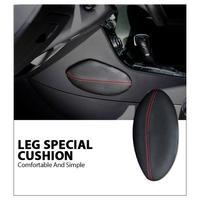 Otomobiller ve Motosikletler'ten Koltuk Destekleri'de 1 adet araba koltuk minderi ayak destek yastığı bacak desteği araba koltuk minderi deri bacak yastık dizlik uyluk destek yastığı