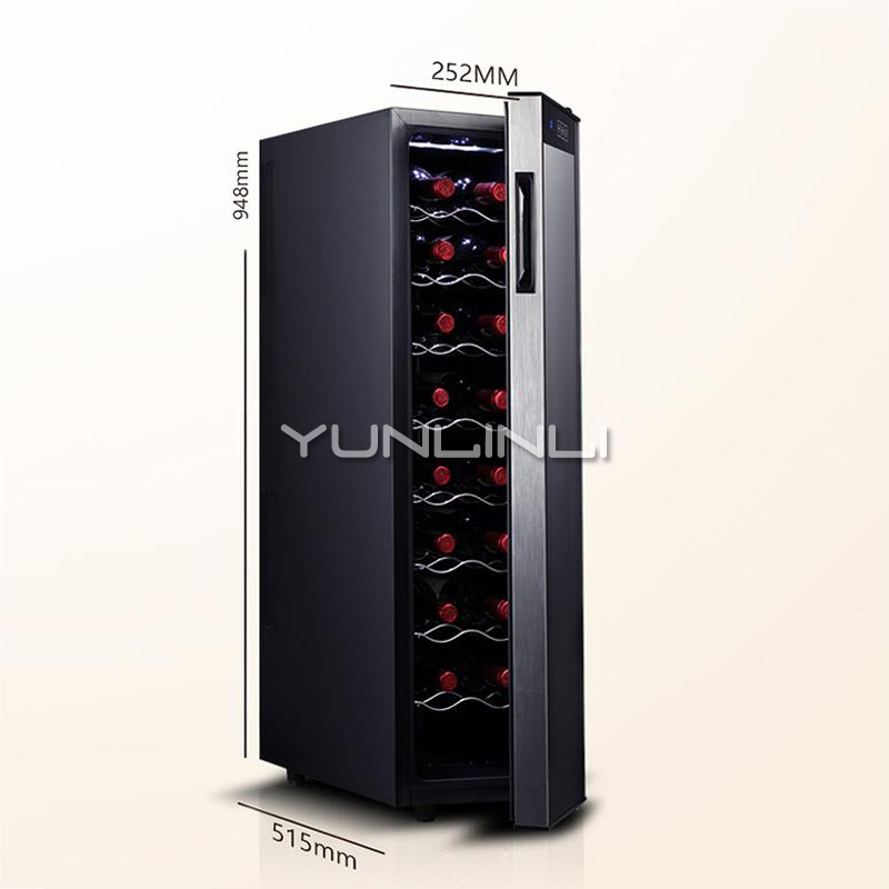 Household Wine Cabinet Constant Temperature Red Wine Refrigerator Electronic Red Wine Storage Case JC-65BW