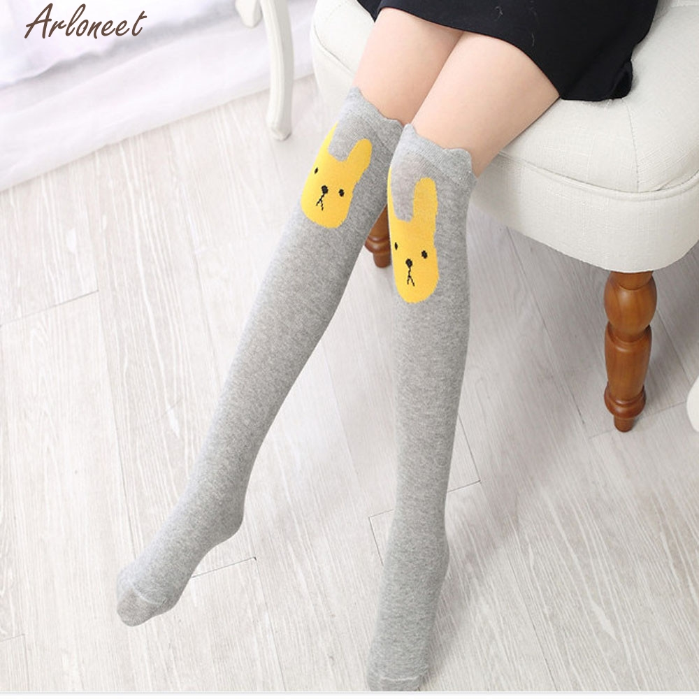 bd0576dcb Aliexpress.com   Buy 2017 new baby socks Children Kids Girl Animal Rabbit  Pattern Print Knee High Socks Cute Socks high quality dsep25 from Reliable  baby ...