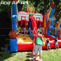 Wholesale inflatable basketball hoop carnival game/Inflatable Basketball Double Shot out for playground game