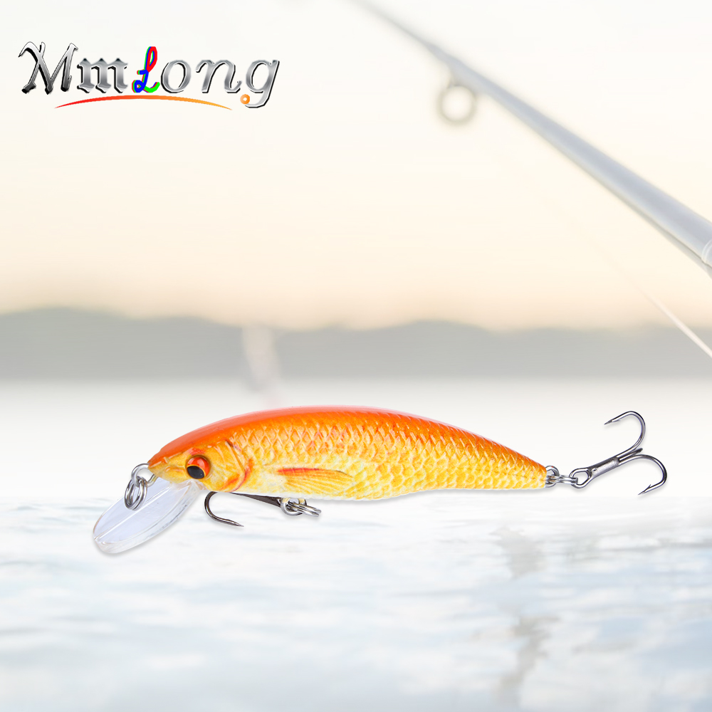 Mmlong 5.5cm Hard Lure Floating Wobbler Minnow SAH12A 2.3g Seawater Artificial Bait Pesca Hooks Pike Fishing Lures Fish Tackle