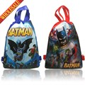 20pcs Batman Hot Cartoon Drawstring Backpack Bags 34*27CM School Furniture Non-Woven Fabric Kids Party & Candy Bags as Gifts