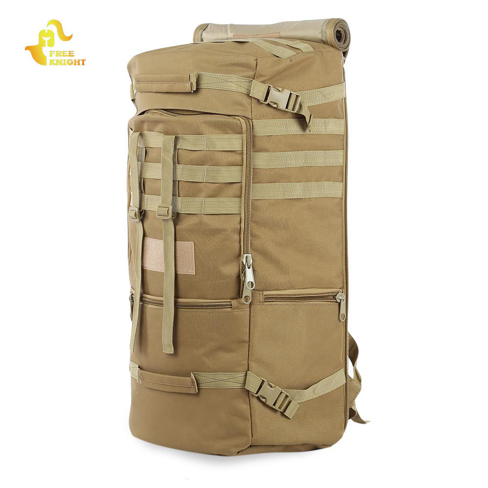 Free Knight Outdoor Tactical Backpack Waterproof Hiking Bag Army Shoulder Military Hunting Camping Multi-purpose Molle Sport Bag tactical outdoor double shoulder backpack bag army green