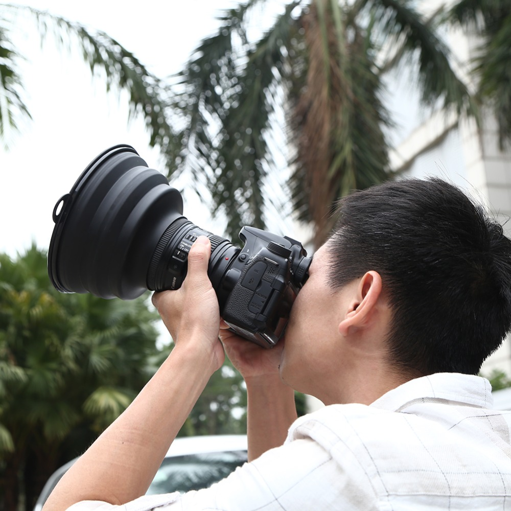 Reflection-free Collapsible Silicone Lens Hood Ultimate Lens Cover Anti-glass Lens Hood For Camera Images Videos Photographers 9