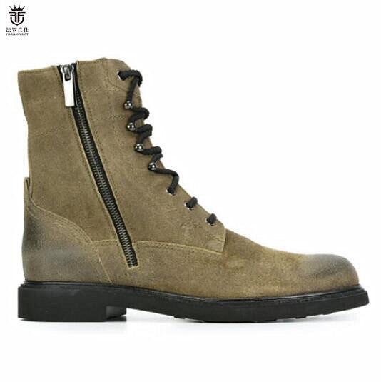 Novos Inverno Botas Sapatos De Lancelot Couro Fr Showed 2019 As Homens 1 Baixo Montaria Vaca Salto Da Zip Moda Marca Motocicleta XF6qafZ